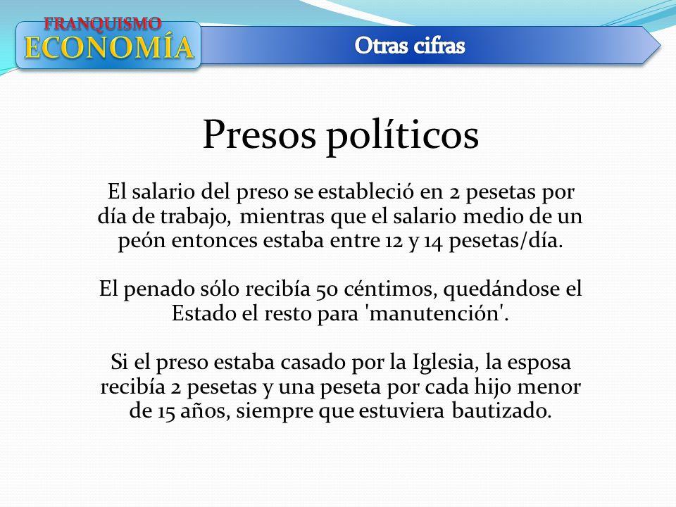 Presos políticos ECONOMÍA Otras cifras