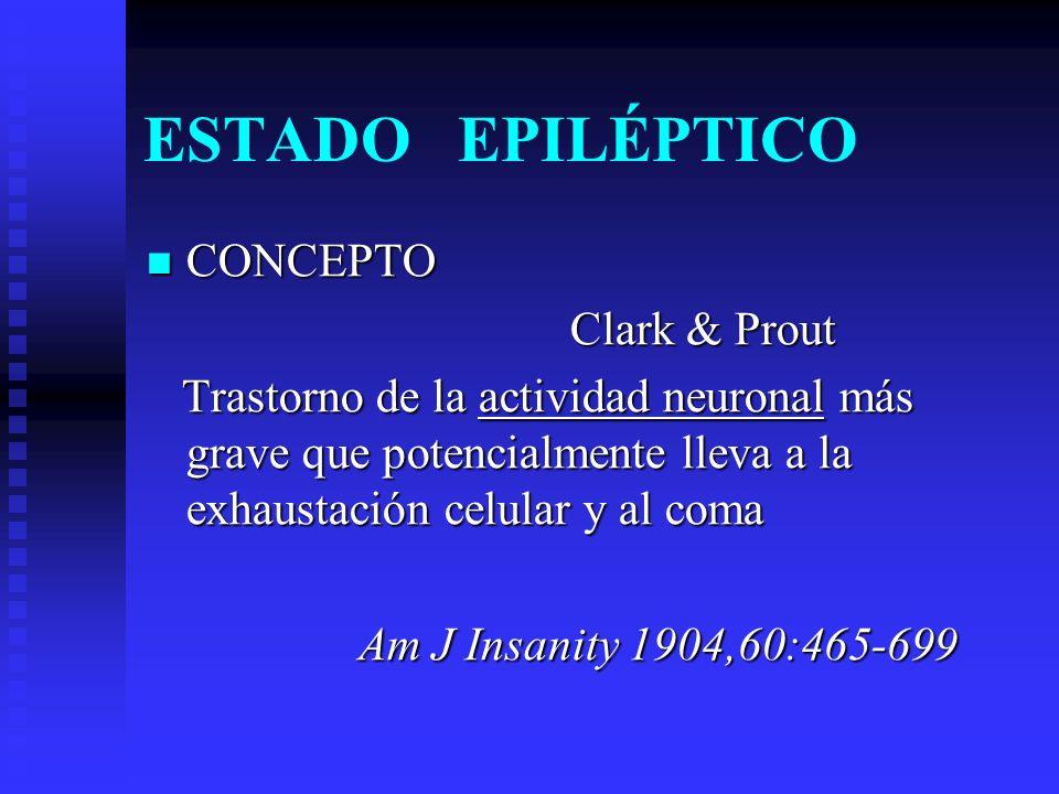 ESTADO EPILÉPTICO CONCEPTO Clark & Prout