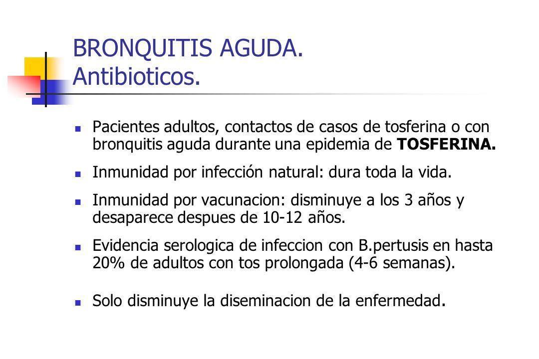 BRONQUITIS AGUDA. Antibioticos.
