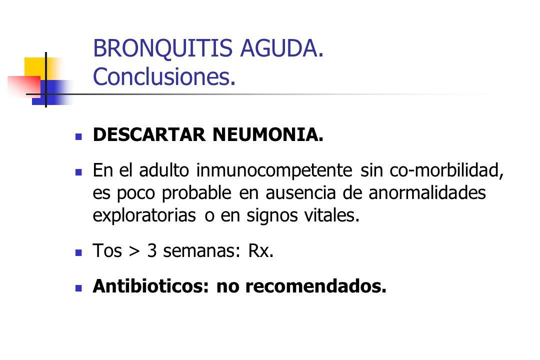 BRONQUITIS AGUDA. Conclusiones.