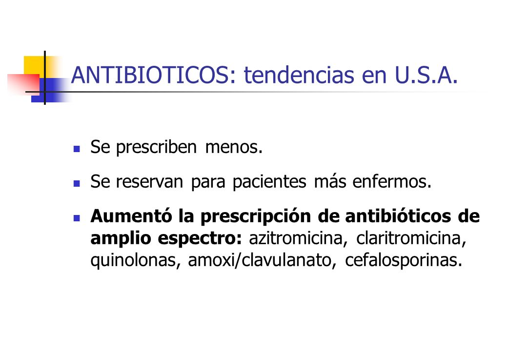 ANTIBIOTICOS: tendencias en U.S.A.