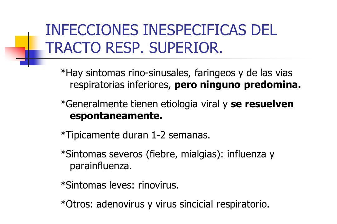 INFECCIONES INESPECIFICAS DEL TRACTO RESP. SUPERIOR.