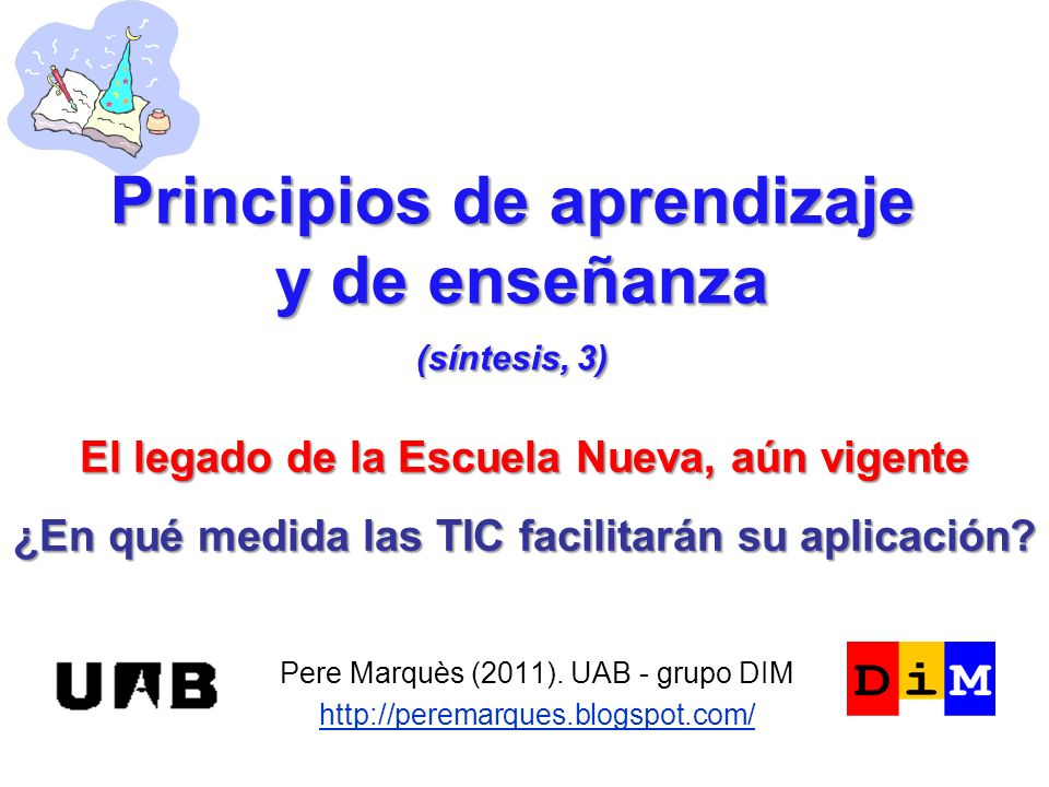 Principios de aprendizaje y de enseñanza (síntesis, 3)