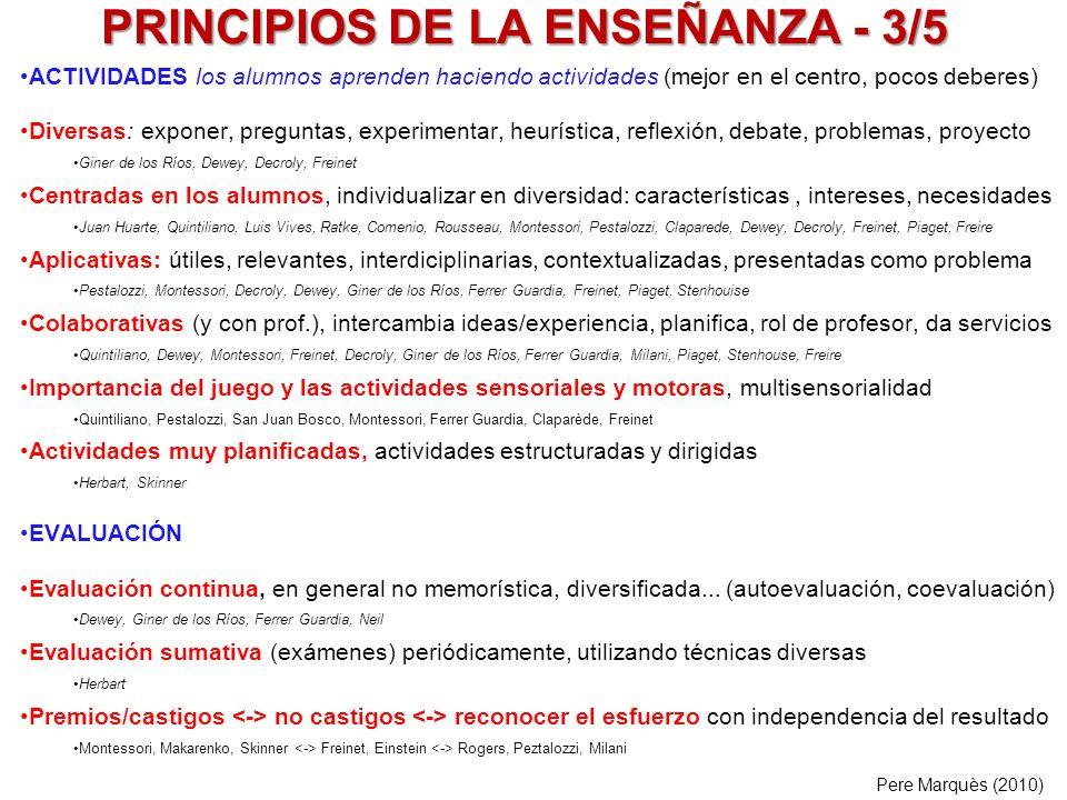 PRINCIPIOS DE LA ENSEÑANZA - 3/5