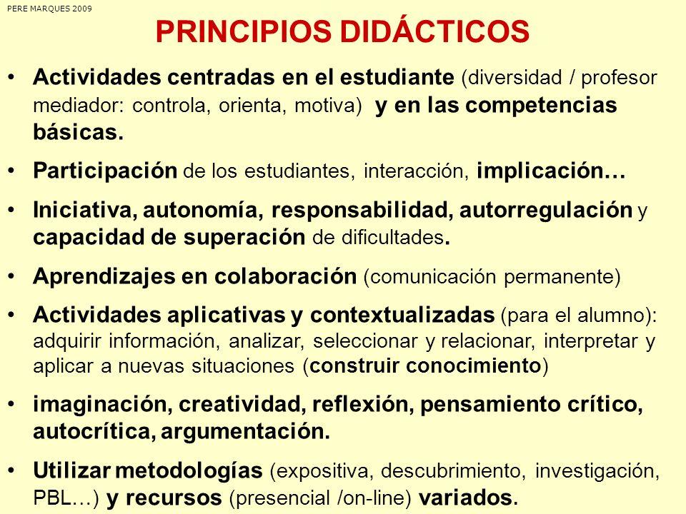 PRINCIPIOS DIDÁCTICOS