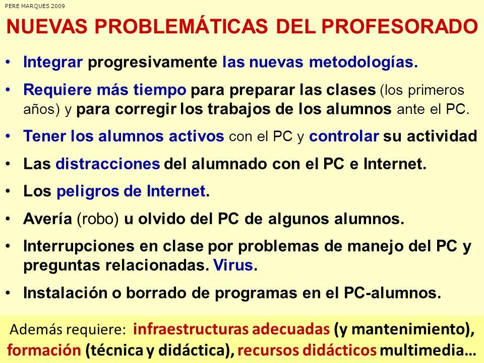 NUEVAS PROBLEMÁTICAS DEL PROFESORADO