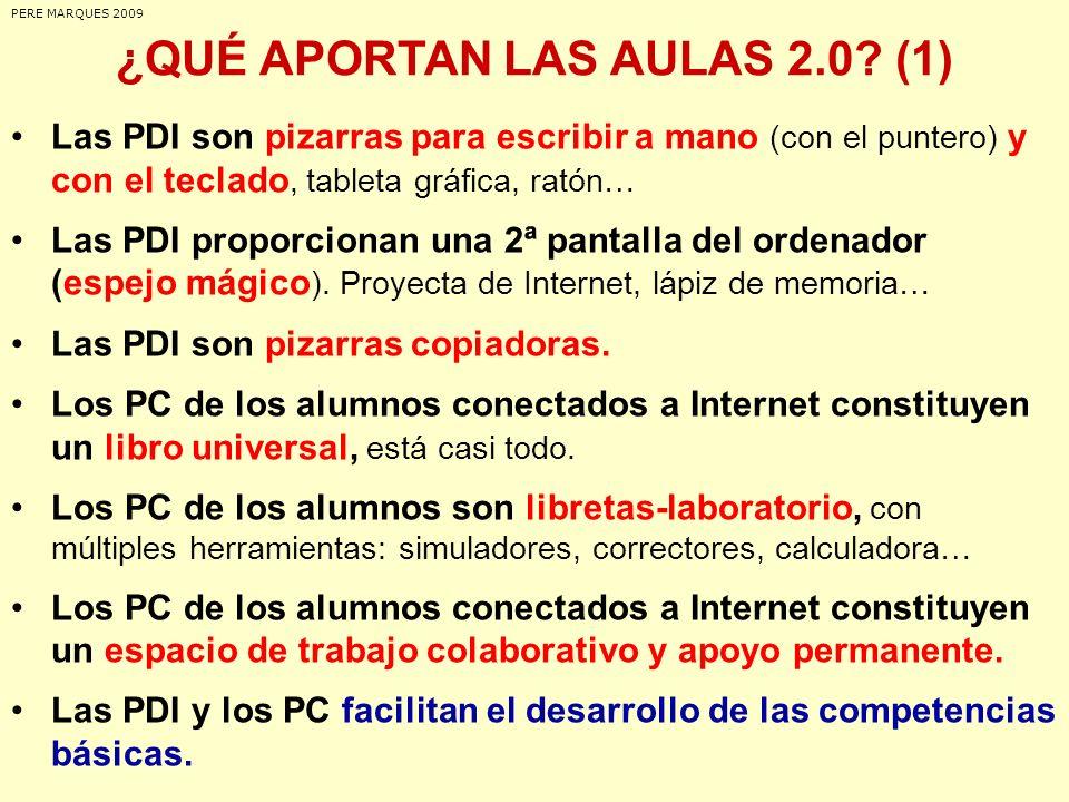 ¿QUÉ APORTAN LAS AULAS 2.0 (1)