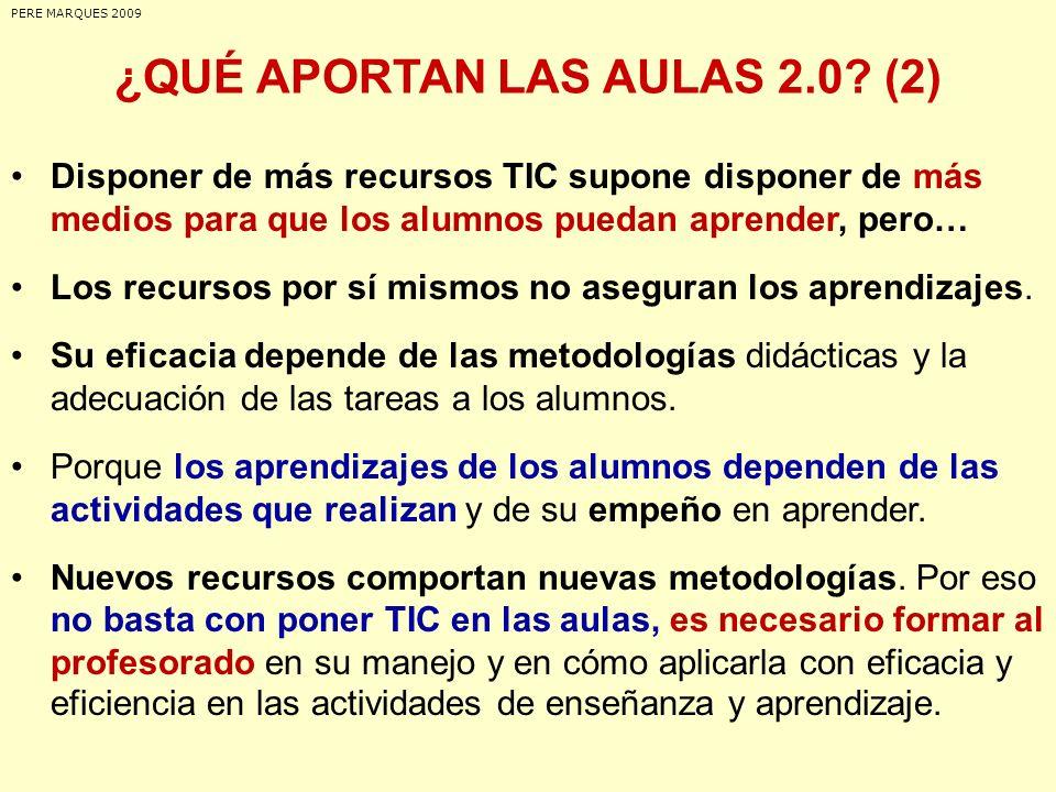 ¿QUÉ APORTAN LAS AULAS 2.0 (2)
