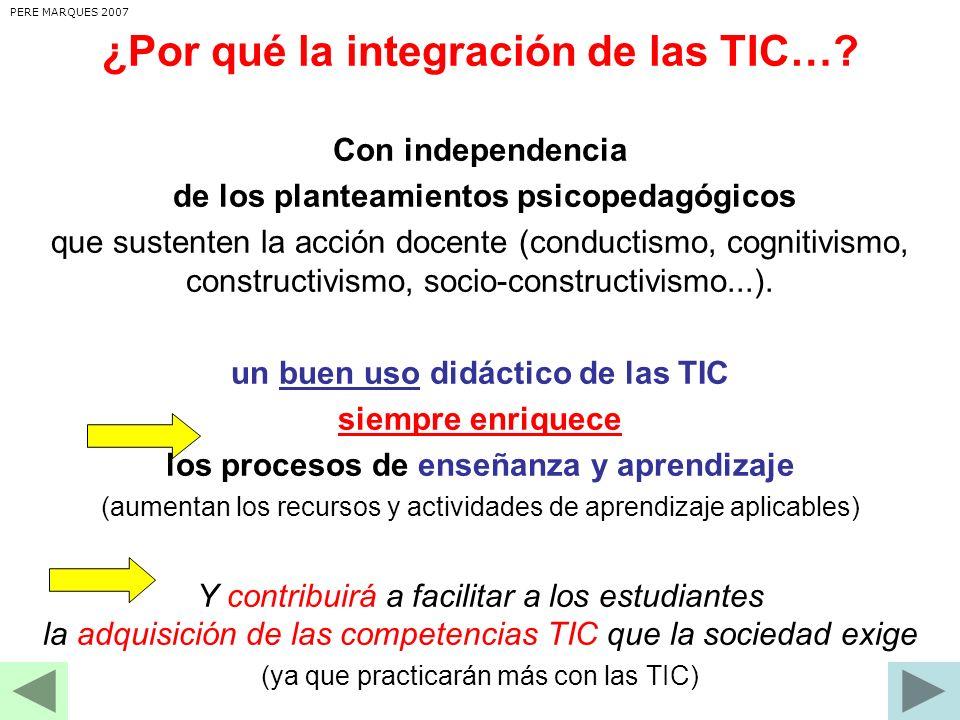 ¿Por qué la integración de las TIC…