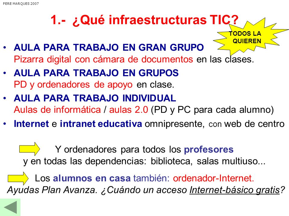 1.- ¿Qué infraestructuras TIC