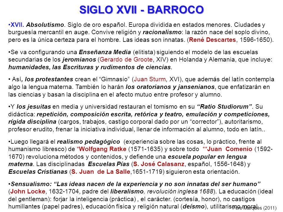 SIGLO XVII - BARROCO