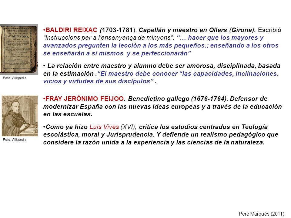 BALDIRI REIXAC (1703-1781). Capellán y maestro en Ollers (Girona)