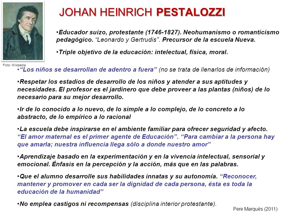 JOHAN HEINRICH PESTALOZZI