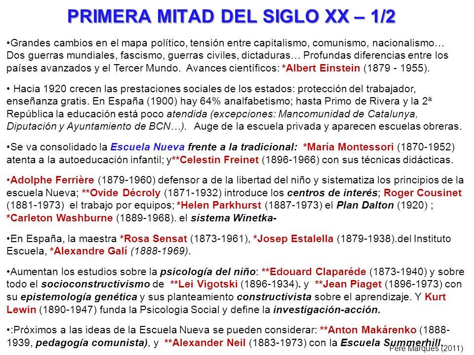 PRIMERA MITAD DEL SIGLO XX – 1/2