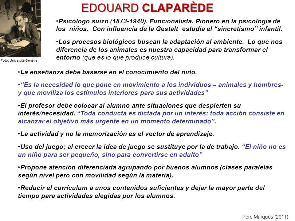 EDOUARD CLAPARÈDE