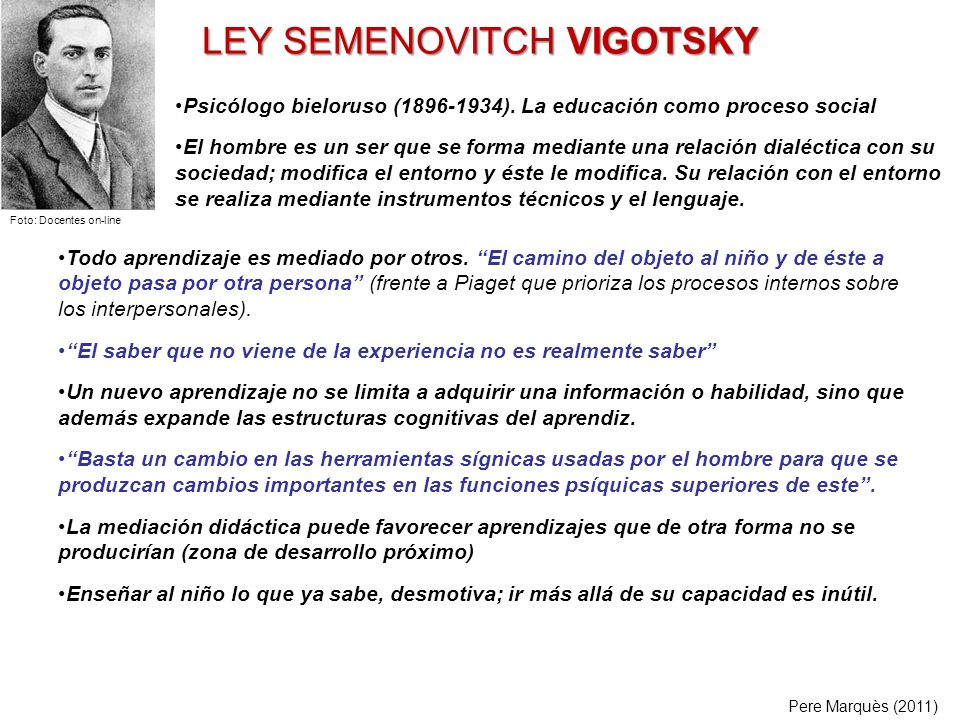 LEY SEMENOVITCH VIGOTSKY
