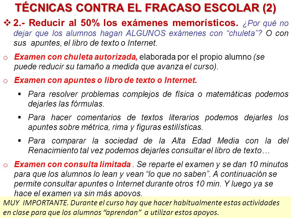 TÉCNICAS CONTRA EL FRACASO ESCOLAR (2)