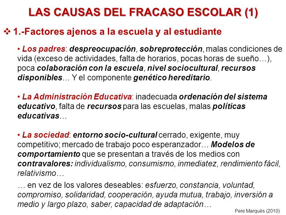 LAS CAUSAS DEL FRACASO ESCOLAR (1)