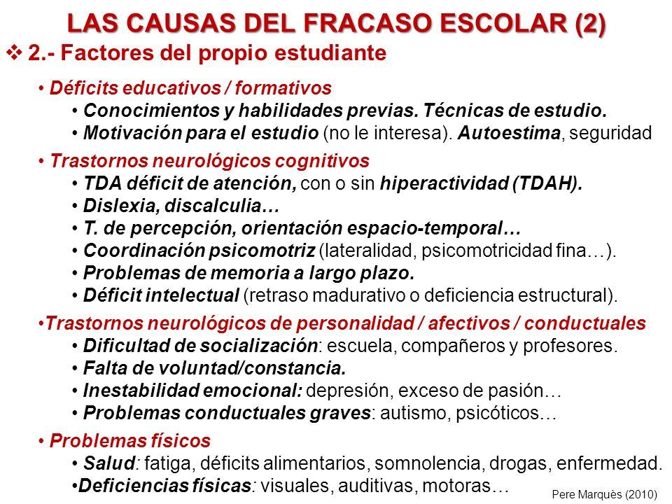 LAS CAUSAS DEL FRACASO ESCOLAR (2)