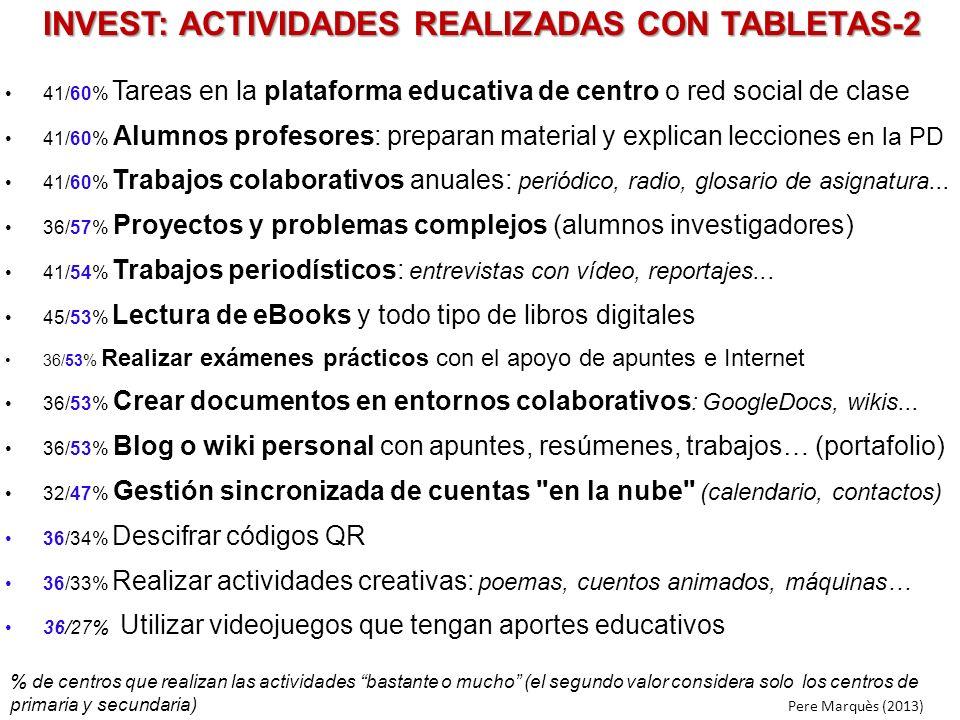 INVEST: ACTIVIDADES REALIZADAS CON TABLETAS-2