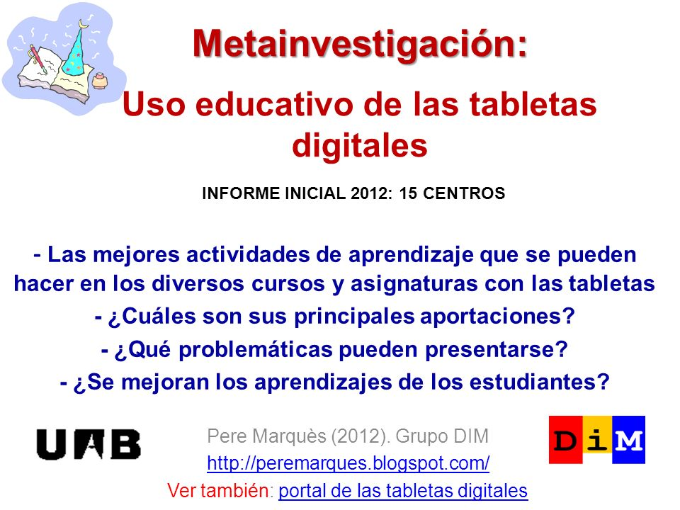 Metainvestigación: Uso educativo de las tabletas digitales