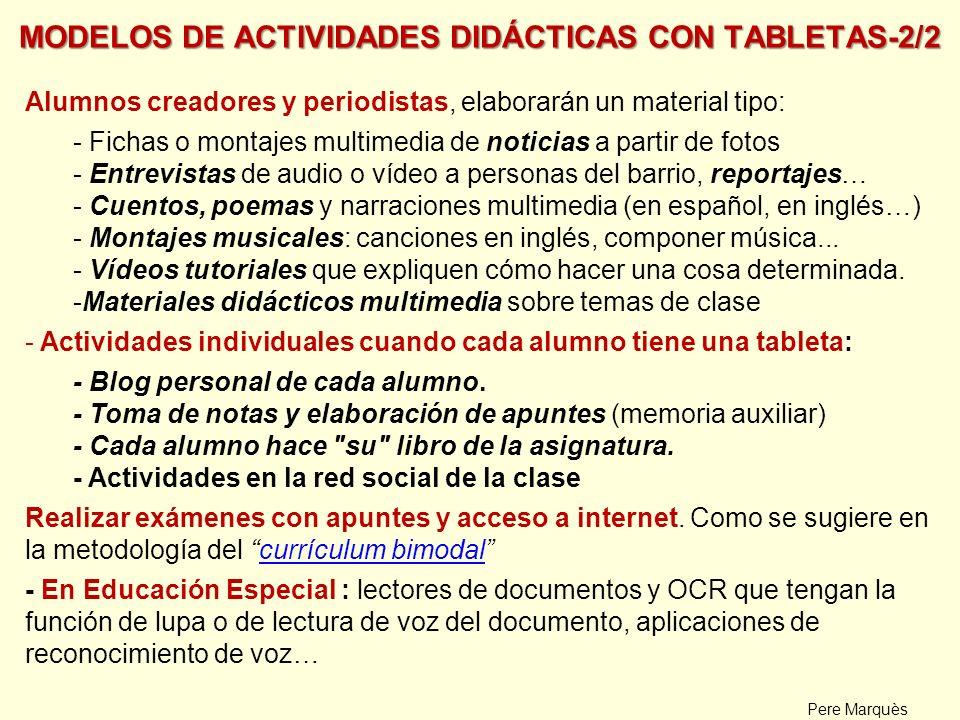 MODELOS DE ACTIVIDADES DIDÁCTICAS CON TABLETAS-2/2