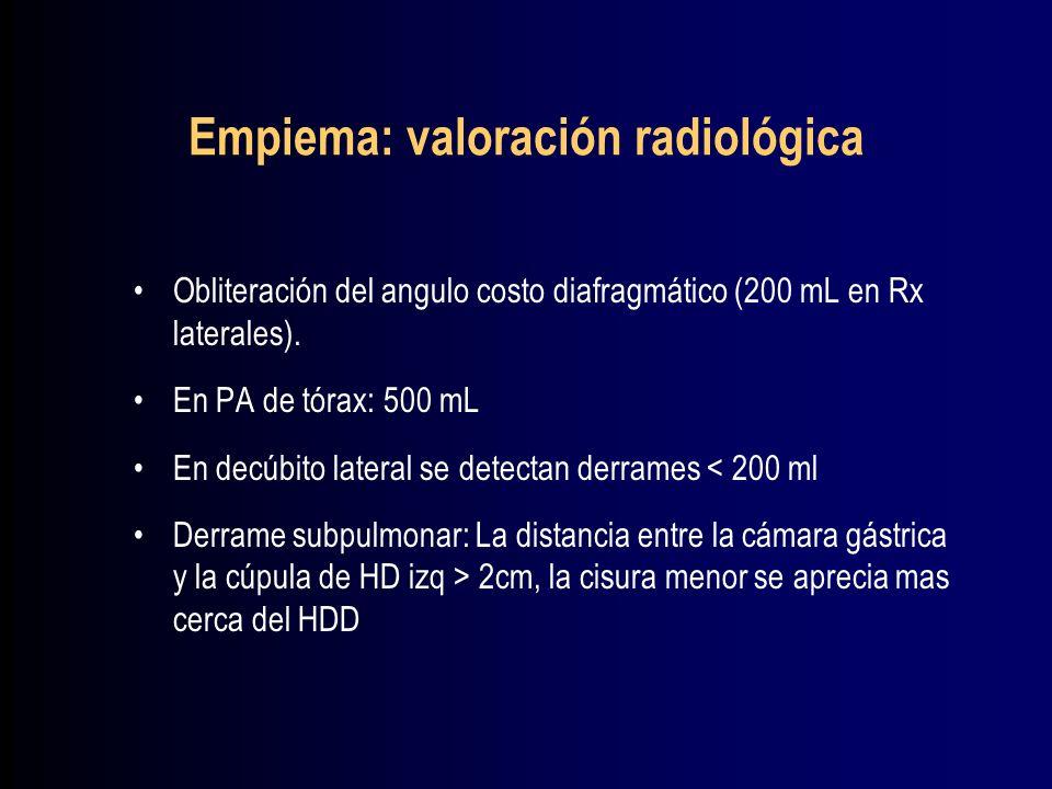 Empiema: valoración radiológica