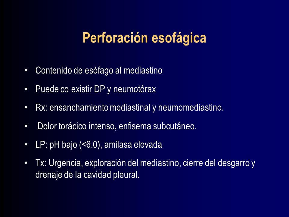 Perforación esofágica