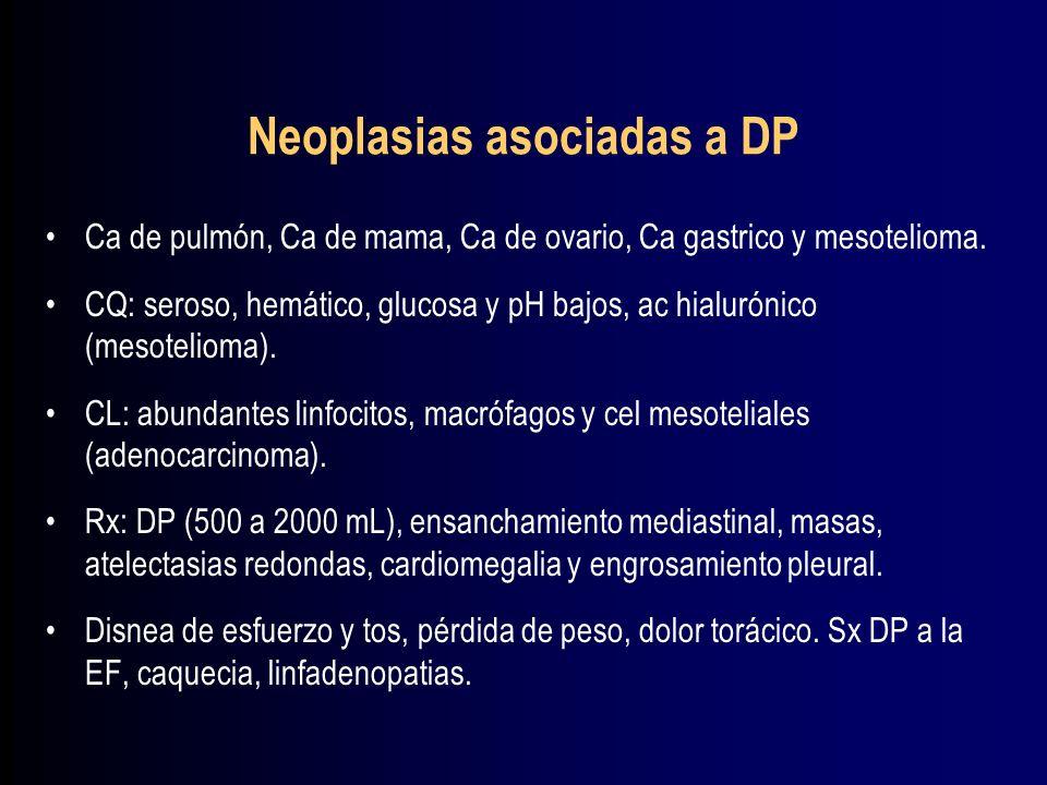 Neoplasias asociadas a DP