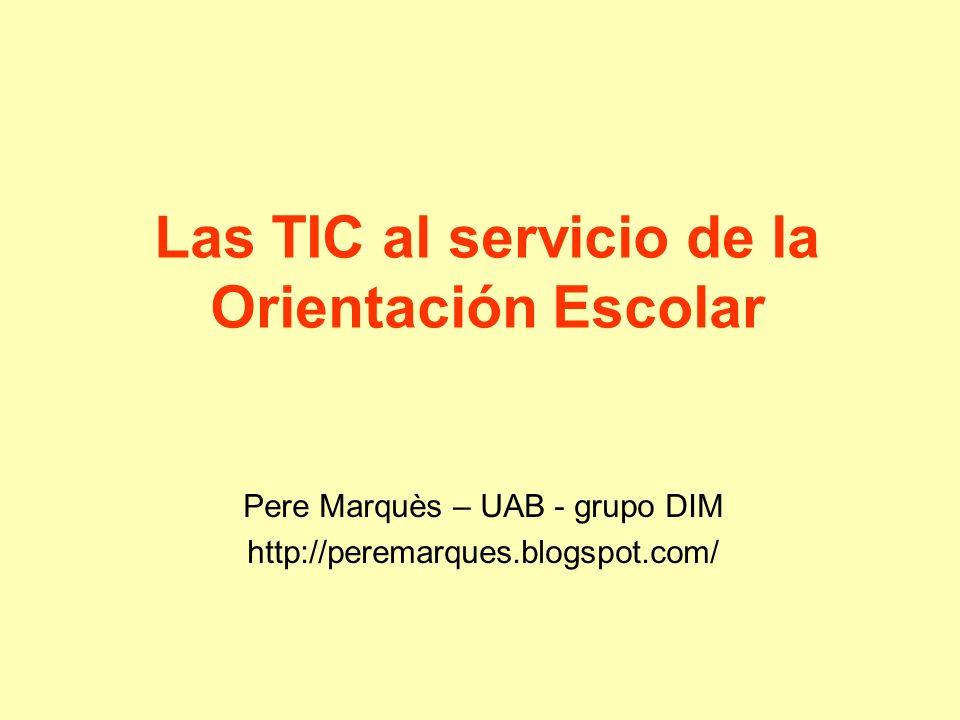 Las TIC al servicio de la Orientación Escolar