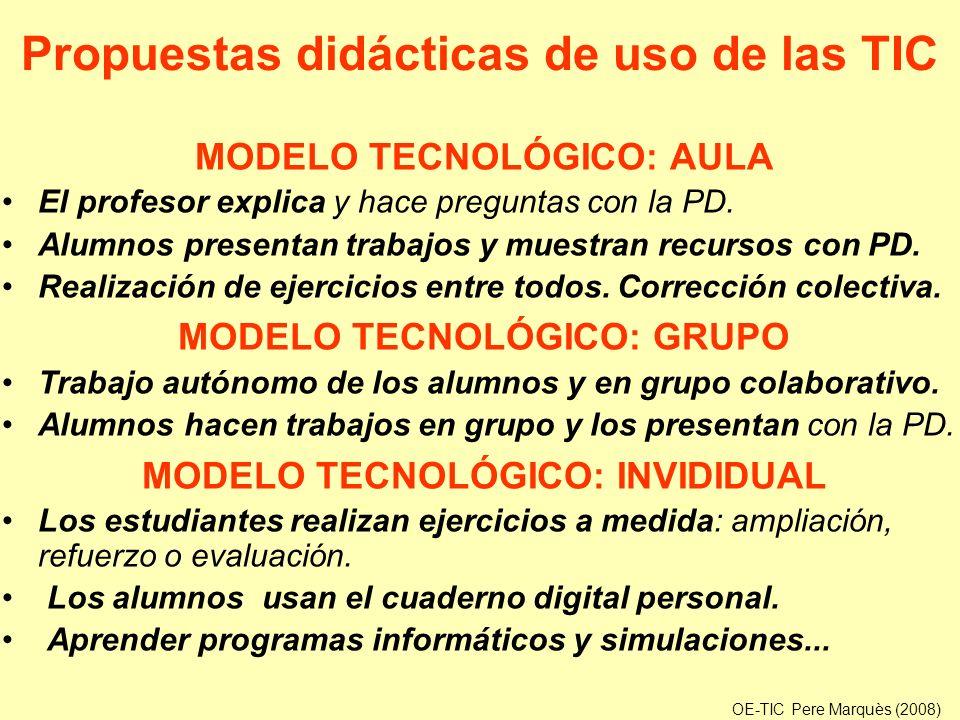 Propuestas didácticas de uso de las TIC