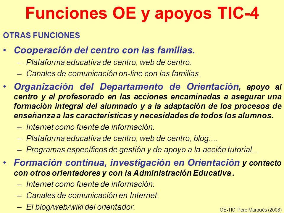 Funciones OE y apoyos TIC-4