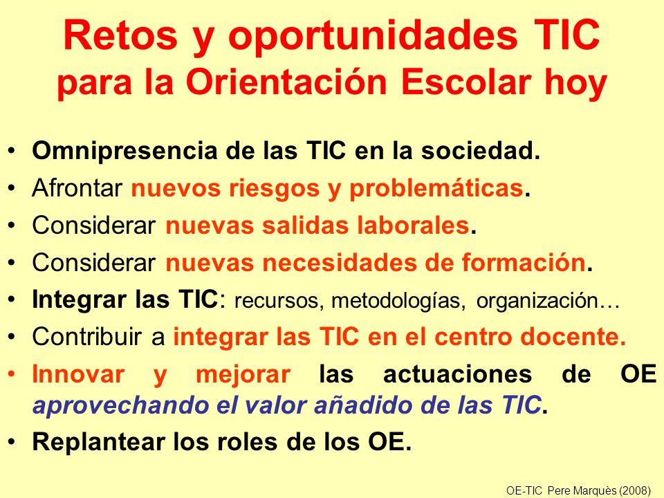 Retos y oportunidades TIC para la Orientación Escolar hoy
