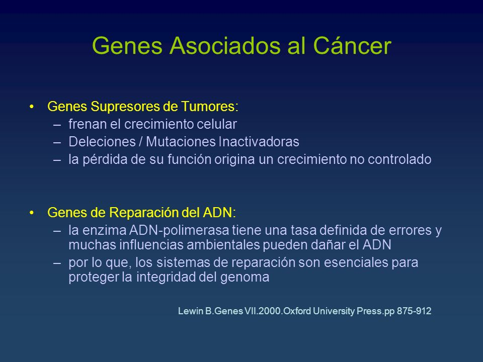 Genes Asociados al Cáncer