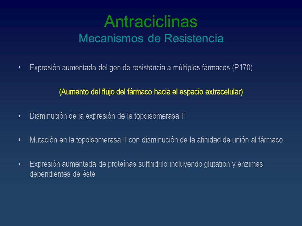 Antraciclinas Mecanismos de Resistencia