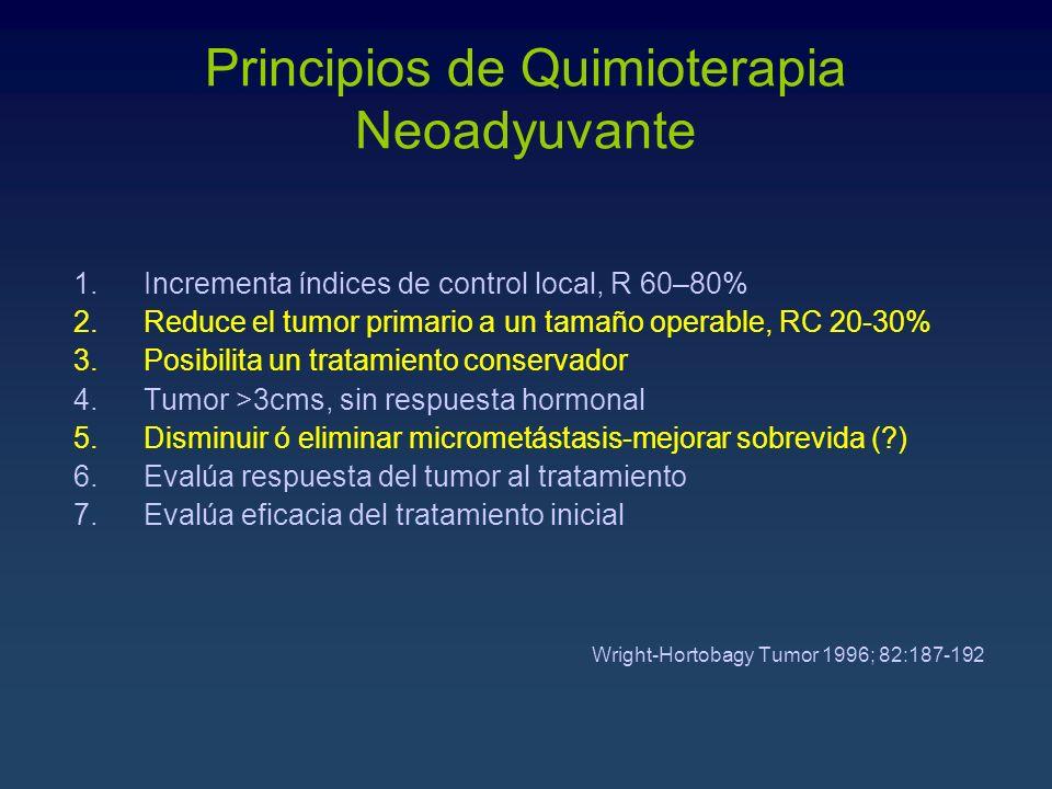 Principios de Quimioterapia Neoadyuvante
