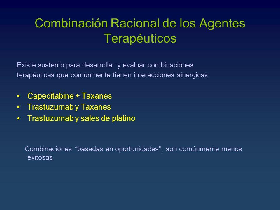 Combinación Racional de los Agentes Terapéuticos