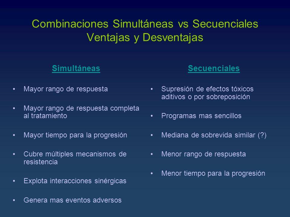 Combinaciones Simultáneas vs Secuenciales Ventajas y Desventajas