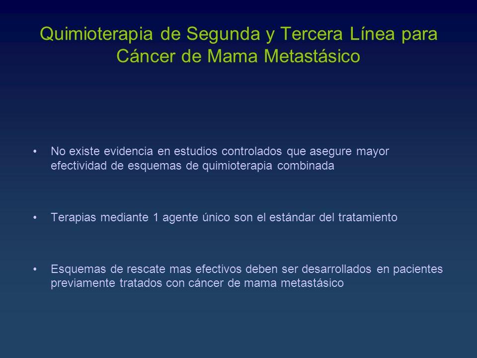 Quimioterapia de Segunda y Tercera Línea para Cáncer de Mama Metastásico