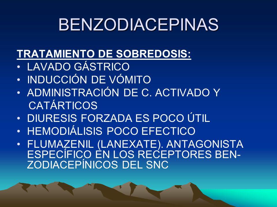 BENZODIACEPINAS TRATAMIENTO DE SOBREDOSIS: LAVADO GÁSTRICO