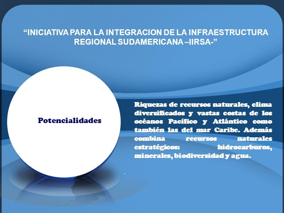INICIATIVA PARA LA INTEGRACION DE LA INFRAESTRUCTURA REGIONAL SUDAMERICANA –IIRSA-