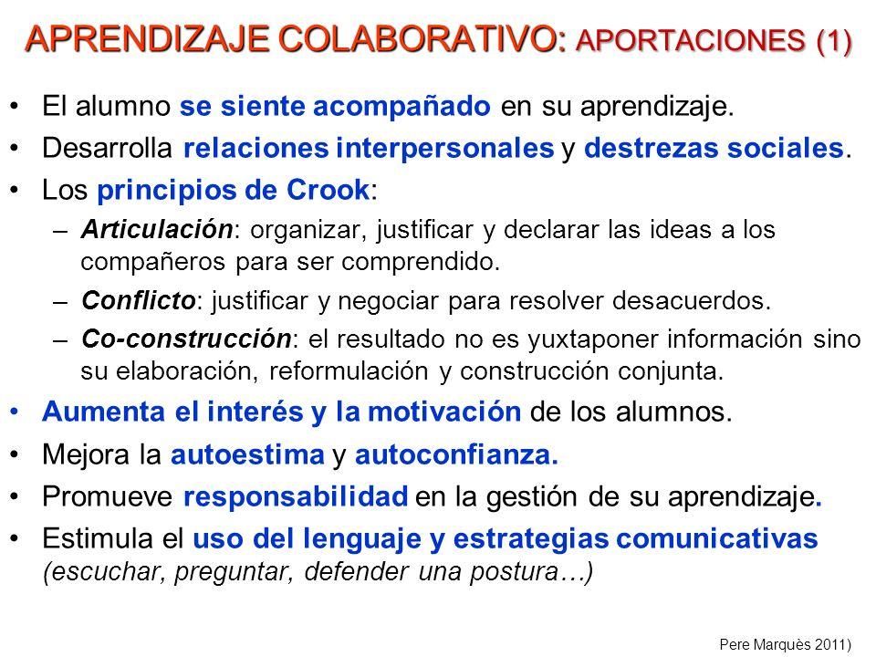 APRENDIZAJE COLABORATIVO: APORTACIONES (1)