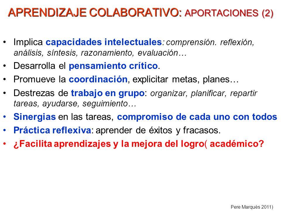 APRENDIZAJE COLABORATIVO: APORTACIONES (2)