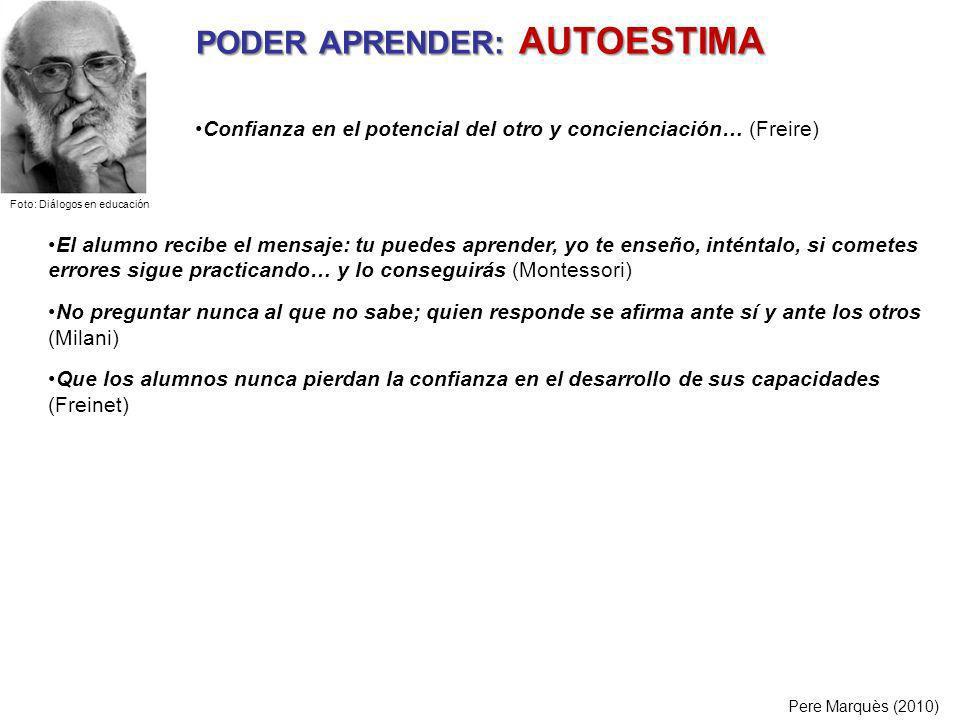 PODER APRENDER: AUTOESTIMA