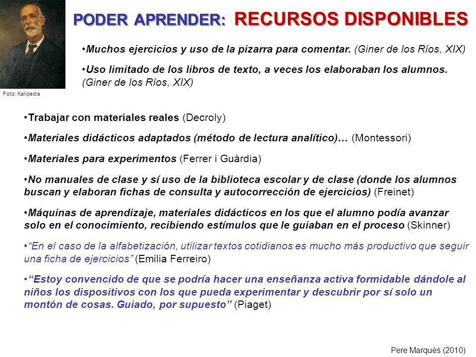 PODER APRENDER: RECURSOS DISPONIBLES