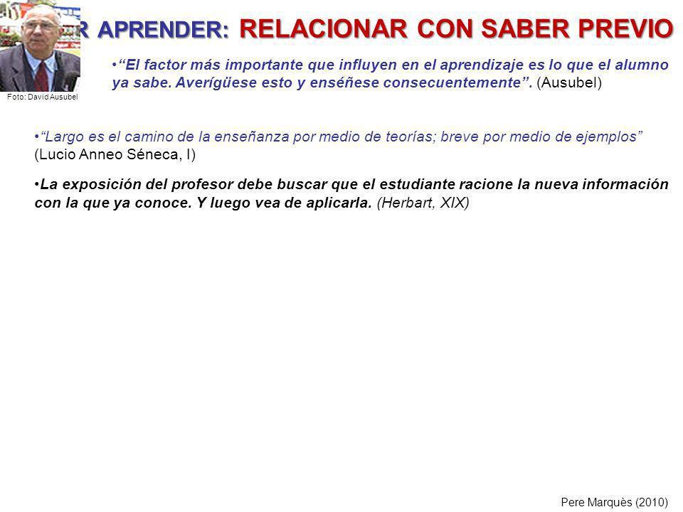 PODER APRENDER: RELACIONAR CON SABER PREVIO