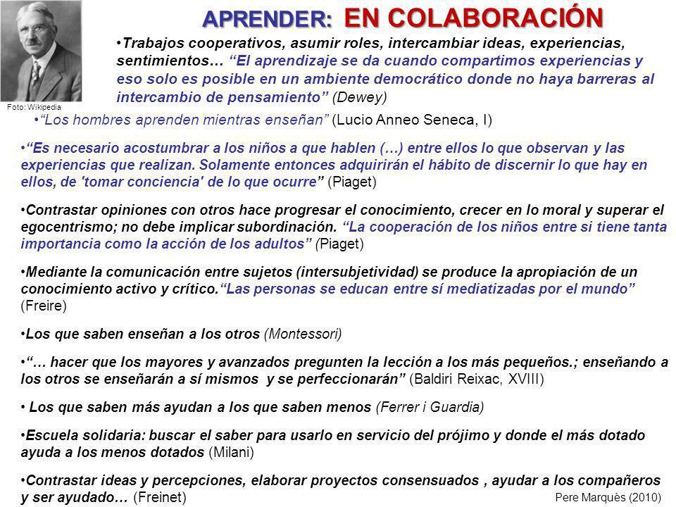 APRENDER: EN COLABORACIÓN