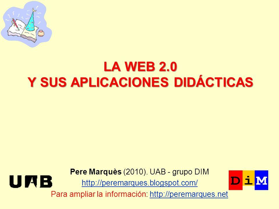 LA WEB 2.0 Y SUS APLICACIONES DIDÁCTICAS