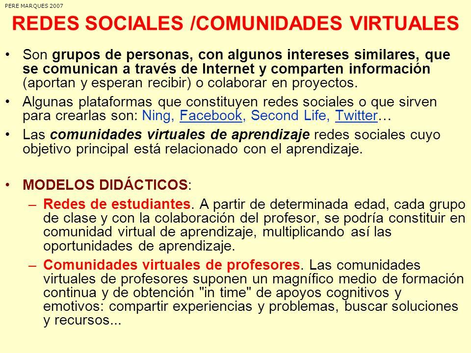 REDES SOCIALES /COMUNIDADES VIRTUALES