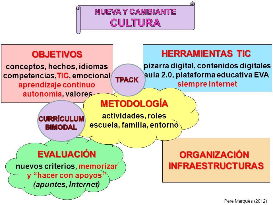 OBJETIVOS METODOLOGÍA ORGANIZACIÓN INFRAESTRUCTURAS EVALUACIÓN